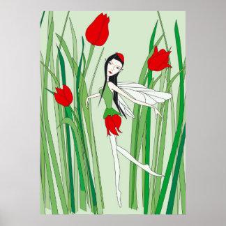 flower fairy tulip print