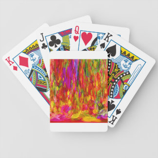 Flower Fal of bright flower coloursl Bicycle Playing Cards