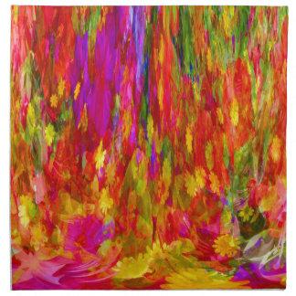 Flower Fal of bright flower coloursl Napkin