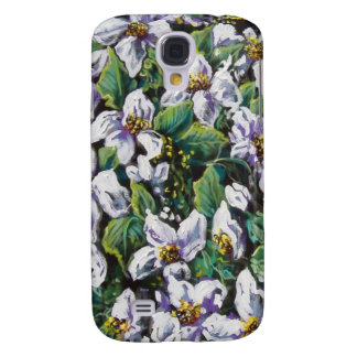flower fall of white galaxy s4 cases