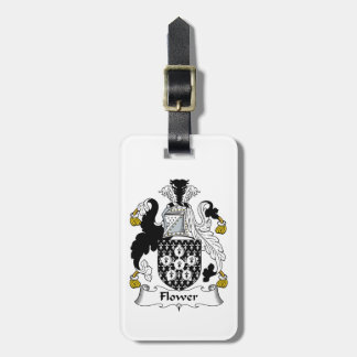 Flower Family Crest Luggage Tag