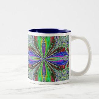 Flower Fancy Two-Tone Coffee Mug