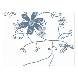 flower festival postcard