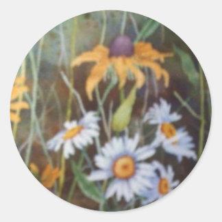 """Flower Field #2"" Floral Sticker"