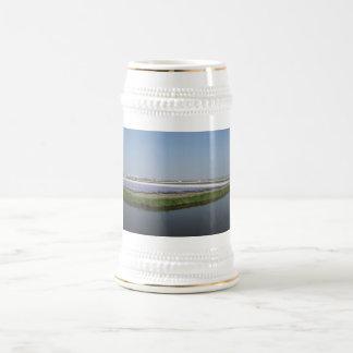 Flower field 18 oz beer stein
