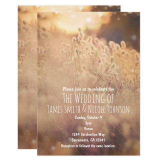Flower Field Rustic Country Wedding Invitations