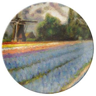 Flower Fields Triptych image 2 of 3 Porcelain Plate