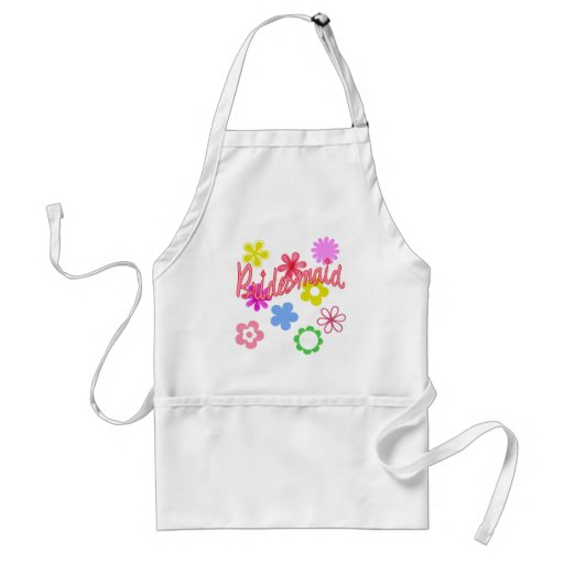 Flower Filled Bridesmaid Products Aprons