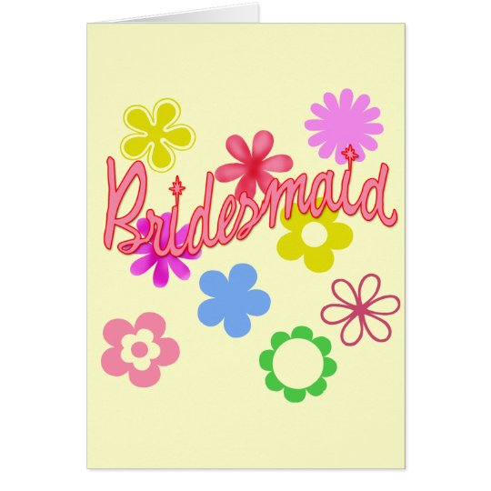 Flower Filled Bridesmaid Products Card