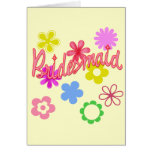 Flower Filled Bridesmaid Products Greeting Cards