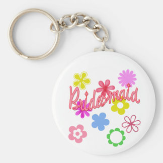 Flower Filled Bridesmaid Products Keychain
