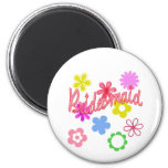Flower Filled Bridesmaid Products Refrigerator Magnet