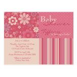 Flower Fizz Pink • Baby Shower Invitation Postcard
