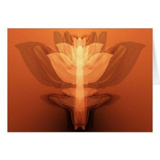Flower flame card