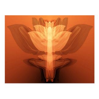 Flower flame postcard