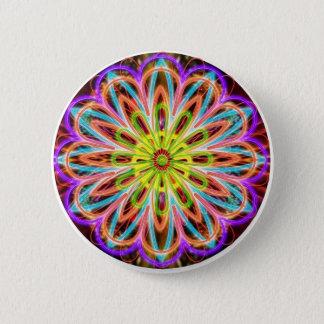 Flower Floral Healing Circle Chakra Mandala fun Button