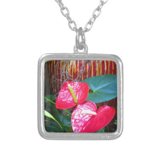 Flower Floral photos from Longwood Gardens Square Pendant Necklace