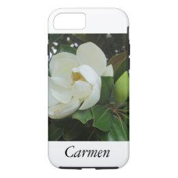 Flower Flowers White Botanical Magnolia iPhone 8/7 Case