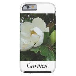 Flower Flowers White Botanical Magnolia Tough iPhone 6 Case