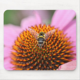 Flower Fly Mouse Pad