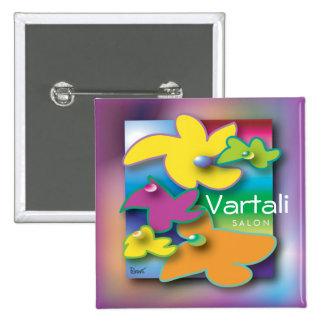 Flower Fly Vartali Square Button