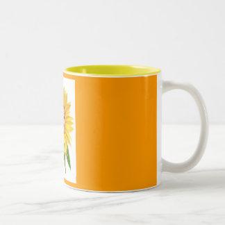 Flower Folk - Sunflower Two-Tone Coffee Mug