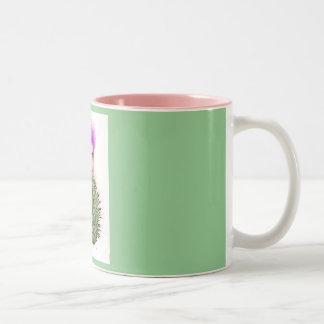 Flower Folk - Thistle Two-Tone Coffee Mug