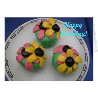 Flower Fondant Birthday Greeting Card