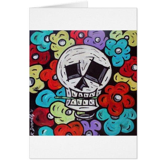 Flower For You - Dia De Los Muertos Card