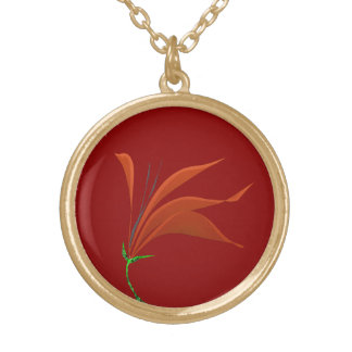 Flower for You Round Pendant Necklace