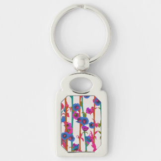 Flower Forest In Multi Colors Keychain