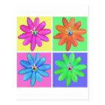 Flower Foursome Postcard
