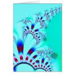 Flower · Fractal Art · Turquoise Card