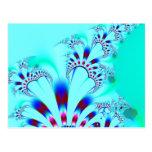 Flower · Fractal Art · Turquoise Post Card