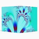 Flower · Fractal Art · Turquoise Vinyl Binder
