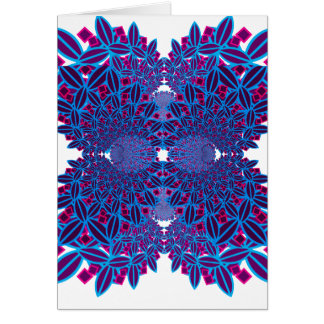 Flower Fractal Card