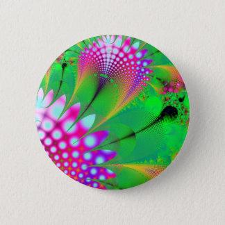 Flower fractal pinback button