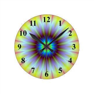 Flower Fractal Wall Clock