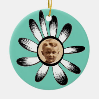 Flower Frame 1 Ceramic Ornament