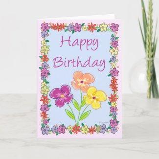 Flower Frame-BD zazzle_card