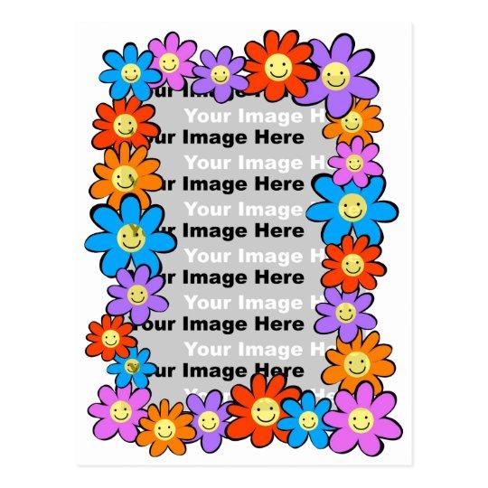Flower Frame Postcard