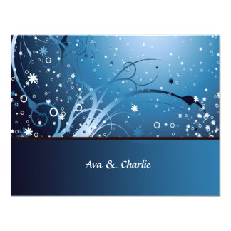 Flower Frenzie Personalized Thank You / Notecard 4.25x5.5 Paper Invitation Card