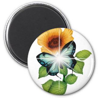 flower fridge magnet