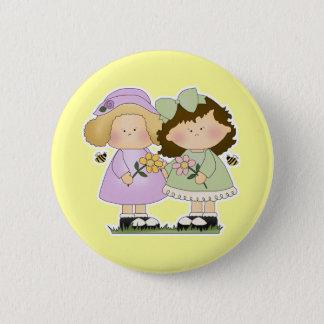 Flower Friends Girls Button