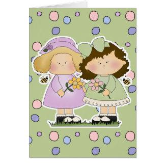 Flower Friends Girls Card