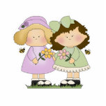"""Flower Friends Girls Cutout<br><div class=""""desc"""">Cute flower kid/child/baby design for flower lovers.  Great for Mother&#39;s Day or any day.  so cute!</div>"""