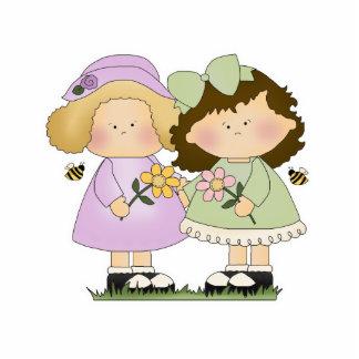 Flower Friends Girls Cutout