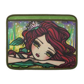Flower Frog Lilypad Pond Mermaid MacBook Sleeve