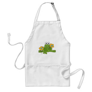 flower froggy frog adult apron