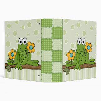 flower froggy frog binder